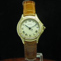 Cartier Cougar 18kt 750 Gold Damenuhr Mit Brillant Besatz /...