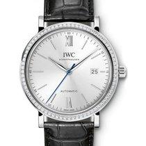 IWC Schaffhausen IW356514 Portofino Automatic Silver Plated...