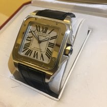 Cartier Santos 100 XL Steel deployantes box cartier