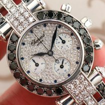 Chopard Imperiale 18k White Gold w Factory Pave Black and...