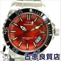 Technos 【未使用】【買取品】TECHNOS テクノス  メンズウォッチ 回転ベゼル 腕時計 T4391SR...