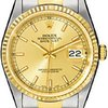 Rolex Datejust Champagne Index Dial Oyster Bracelet Two...