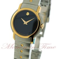 Movado S.L. Ladies, Black Museum Dial - Yellow Gold Plated...