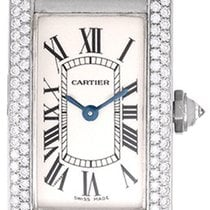 Cartier Tank Americaine Ladies White Gold & Diamond Watch...