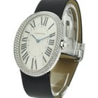 Cartier Baignoire Large in White Gold with Diamond Bezel