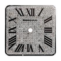 Cartier Santos 100 Large Diamond Pavé/Black Roman Numerals...