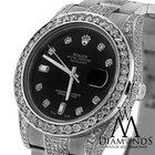 Rolex Watch Datejust Ii 116334 41mm Black Dial  Diamond Bezel...