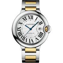 Cartier Ballon Bleu 42mm Steel & 18K Yellow Gold Watch...
