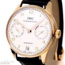 IWC Portugieser 7-Days Automatic Ref-IW500101 18k Rose Gold...