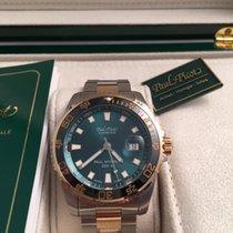 Paul Picot paul mariner III 3 acciaio oro quadrante verde tax...