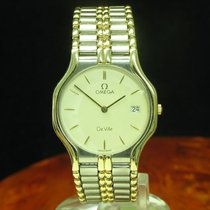 Omega De Ville 18kt 750 Gold / Edelstahl Herrenuhr Mit Datum /...