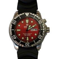 Deep Blue Protac Diver 1k Quartz Diving Watch 1000m Wr Helium...