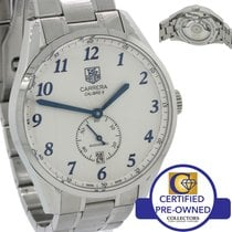 TAG Heuer Heritage Calibre 6 Steel Automatic Silver Blue 39mm...