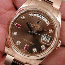 Rolex Day Date President 118205 Mens Everose Gold Chocolate...