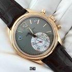 Patek Philippe Rose Gold Annual Calendar Chronograph Gray Dial