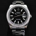 Rolex Datejust II 41mm Custom 3.15ct Diamond Bezel 116300