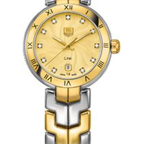 """TAG Heuer Link Lady Quartz Champagne """"guilloche"""" dial"""