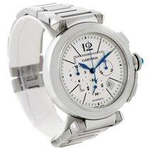 Cartier Pasha 42 Mm Chronograph Mens Watch W31085m7 Unworn