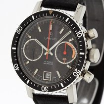 LANCO Vintage Chronograph Cal. Valjoux 7734 Black Tritium Dial...