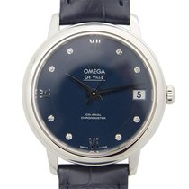 Omega De Ville Stainless Steel Dark Blue Automatic 424.13.33.2...