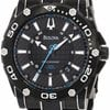 Bulova Precisionist Champlain Black Ion-plated Mens Wat...