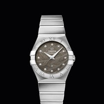 Omega Constellation Quartz 27mm Grey Dial with Diamonds T
