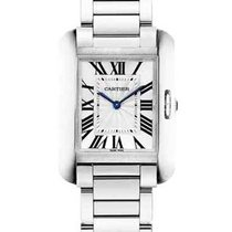 Cartier W5310044 Tank Anglaise Ladies 34.7mm Quartz in Steel -...
