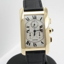 Cartier Tank Americaine Chronograph Chronoflex in 18k yellow...