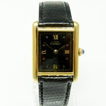 Cartier TANK Must de Cartier Silber vergoldet Quarz Damenuhr
