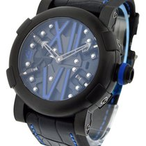 Romain Jerome Titanic DNA Steampunk Auto with Blue Accents