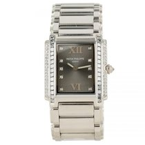 Patek Philippe Twenty-4 4910/20G 18K White Gold Diamond