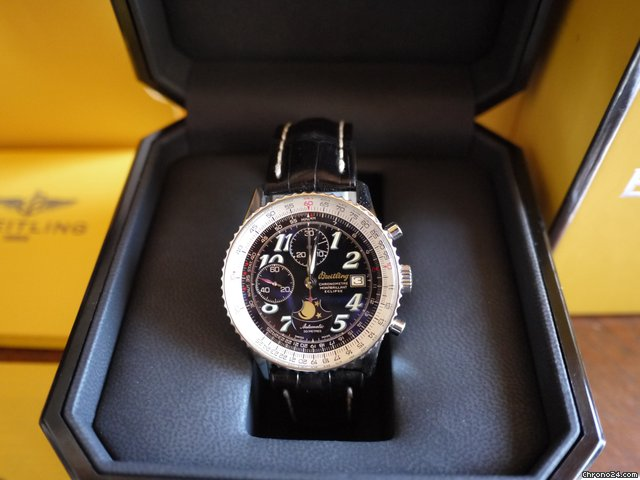 Breitling Navitimer Montbrillant Eclipse RARE Chronometre Chronograph
