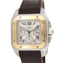 Cartier Santos 100 W20091x7 In Gold And Steel