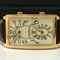 Cuervo y Sobrinos Prominente Dual Time Automatico Ouro Rosé...