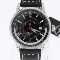 Zeno-Watch Basel Magellano GMT (Dual Time) black NEW