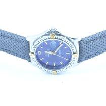 Breitling Sirius Quartz Herren 37mm Stahl/gold Blau Rar