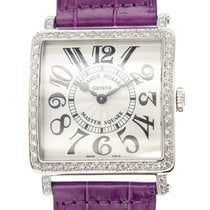 Franck Muller New  Master Square Stainless Steel Silver...
