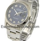 Rolex Datejust-36mm / Steel with Oyster - WG Fluted Bezel