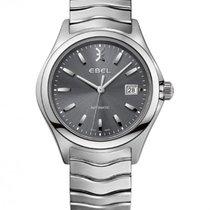Ebel Wave Gent Steel Bracelet, Gray Dial, Date