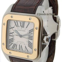 Cartier Santos 100 18k Yellow Gold & Steel Automatic Mens...