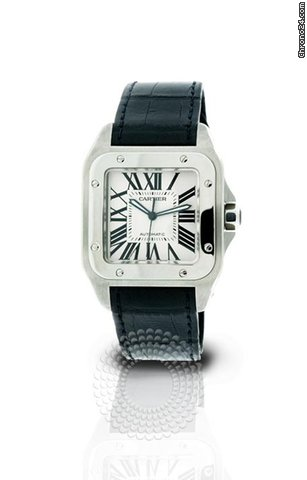 Cartier Santos 100 Mens Watch W20073X8 Pre-Owned