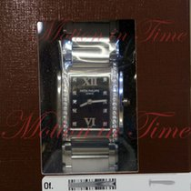 Patek Philippe Twenty-4 Medium Ladies, Black Diamond Dial,...