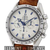 Omega Speedmaster Broad Arrow Chronograph Steel White Dial...