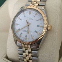 Rolex Oyster Perpetual Jubilee Gold Steel White Roman Dial 34 mm