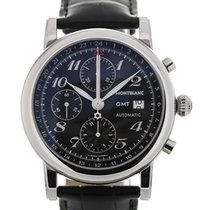 Montblanc Star Collection 42 Black Guilloche Dial GMT Chronograph