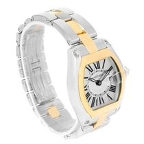 Cartier Roadster Ladies Steel Yellow Gold Silver Dial Watch...