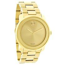 Movado Bold Series Mens Gold Tone Bracelet Swiss Quartz Watch...