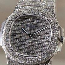 Patek Philippe 5719/1G-001 Nautilus 40mm White Gold Diamond...