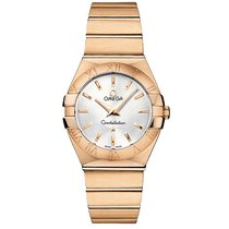 Omega Constellation 18k Rose Gold Silver Dial  123.50.27.60.02...