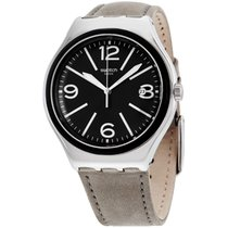 Swatch Dorsoduro Men's Leather Strap Watch Yws422